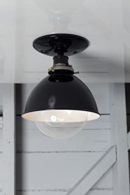 Black Enamel Shade Industrial Factory Ceiling Light