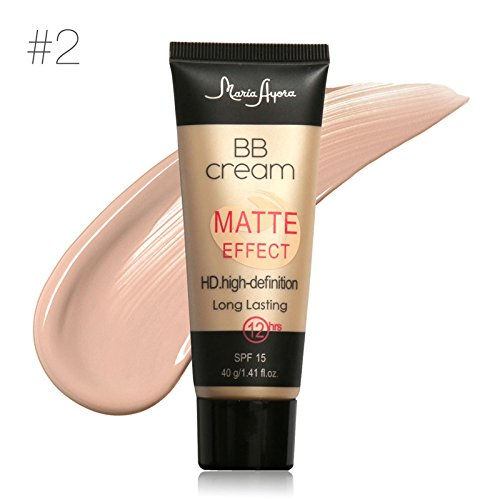 Maria Matte Effect HD High-Definition Long Lasting Makeup Liquid BB Cream Foundation With SPF 15 (#2)