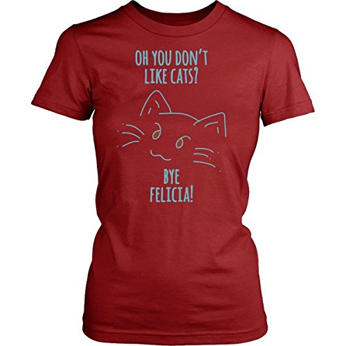 RUHUI Bye Felicia Cat Shirt Design District Womens Shirt Red Small