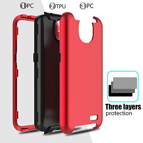 Innens ZTE Maven 3 Case, ZTE Z835 Case, ZTE Prestige 2 Case, 3-in-1 [TPU +  Dual Layer PC] Shockproof Hybrid Rugged Protective Case for ZTE Maven 3