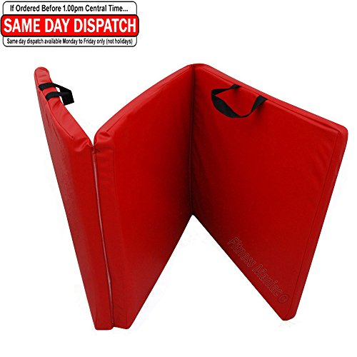 Red PU Leather Mat Gymnastics Tumbling Exercise Folding Martial Arts Mats from U.S.