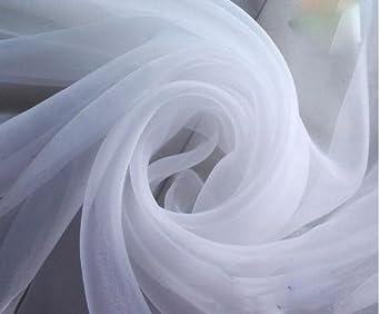 "wide 43/"" white semi-sheer Fine light weight voile 100/% cotton 110 cm"