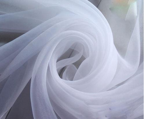 120'' Wide (10ft Wide) x 120 Yards Roll - White Sheer Voile Chiffon Fabric - Perfect for Draping Panels and Masking for Weddings & Events by Sedona Designz (Image #1)