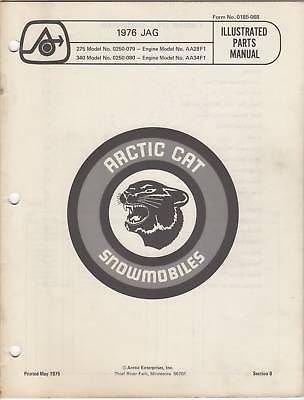 - 1976 ARCTIC CAT JAG SNOWMOBILE OPERATOR MANUAL
