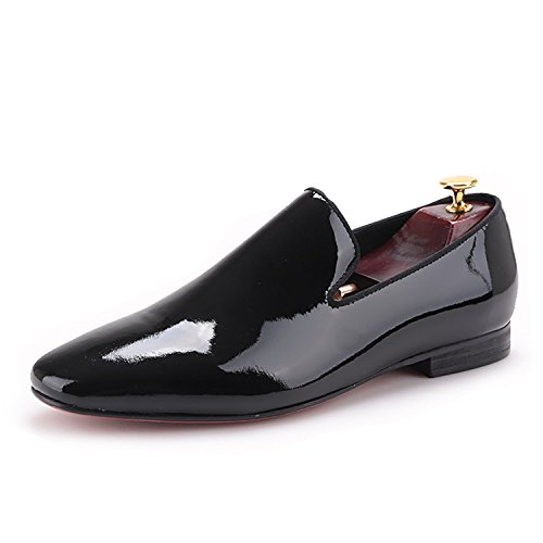 Men's Smoking Loafer Shoes Leather Dress HI amp;HANN Slipper Oqvg7
