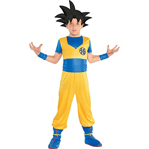 Kids Goku Costume (Party City Dragon Ball Super Goku Costume for Children, Size Small, Includes Jumpsuit, Headpiece, Wristbands, and)