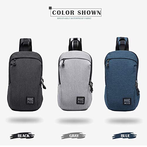 Color : Blue XINHUANG Fashion Crossbody Bags Men Casual Water Repellent Chest Bag Pack for Short Trip Bag Women Multifunction Messenger Bags