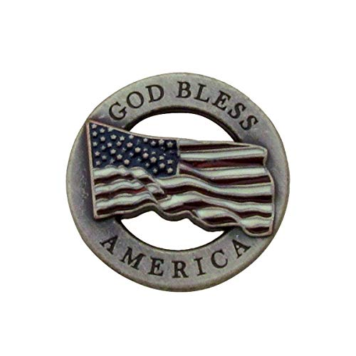 (God Bless America US Flag Screw Back Concho Leathercraft Gun Holster Accessory)
