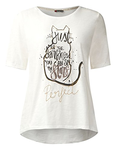 Weiß Para White Shirt off Print Placement Camiseta Street Mujer One 30108 qF6PX0zw