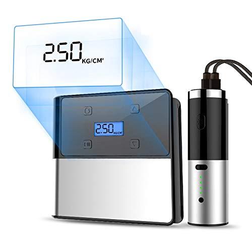 Compresor de aire sin cuerda de CAPTAINKN, inflador eléctrico portable, linterna desMontable, energía móvil dual del USB