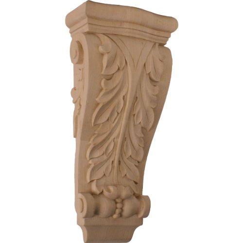 Ekena Millwork COR06X03X13FRAL 6 1/4-Inch W x 3 1/8-Inch D x 13 1/2-Inch H Medium Farmingdale Acanthus Pilaster Corbel, Alder by Ekena Millwork