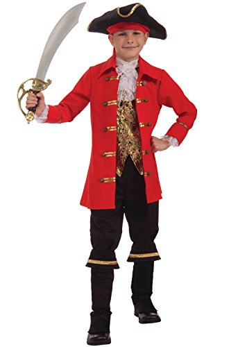 Forum Novelties Deluxe Designer Collection Captain Cutlass Costume, Child Small
