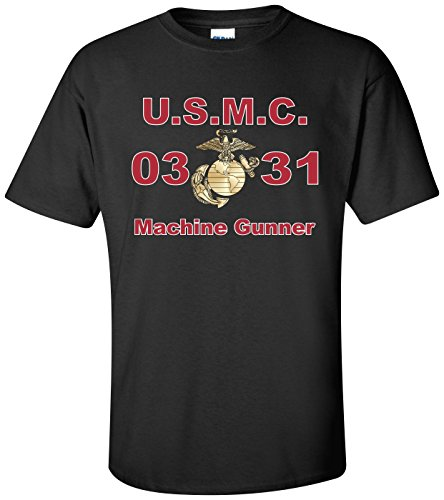 MilitaryBest United States Marine Corps MOS 0331Machine Gunner T-Shirt