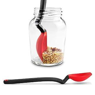 Dreamfarm Mini Supoon-Silicone Pro-Grade Non-Stick Jar Scraping Spoon, Red