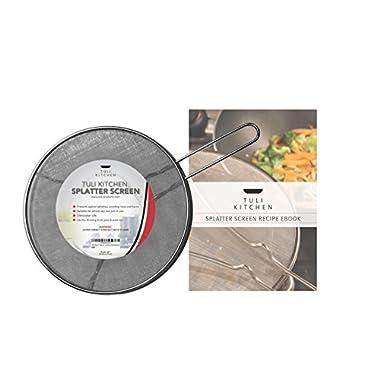 Tuli Kitchen 12  Splatter Screen - Premium Quality Stainless Steel Mesh Guard