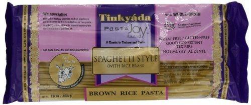 - TINKYADA | Pasta-Spaghetti / Brown Rice- [Gluten Free] 16 Oz [1 Pack]