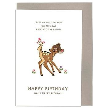 Amazoncom Bambi Disney birthday card Bambi Wood