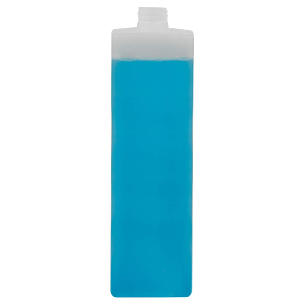 1000 mL Natural High Density Plastic Tall Square Bottle with 28 mm x 410 Thread Count (48 Bottles) (Caps Sold Separately)