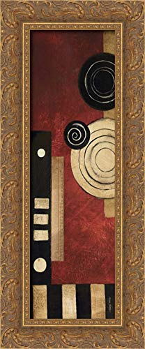 (Radius Panel II 11x24 Gold Ornate Wood Framed Canvas Art by Poloson, Kimberly)