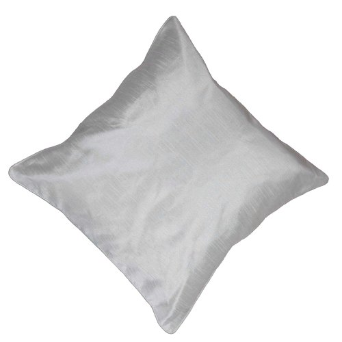 (ShalinIndia Spring Fresh White Square Cushion Covers 18 x 18 Inches Home Decorations - Perfect for Sofas - Machine Washable)