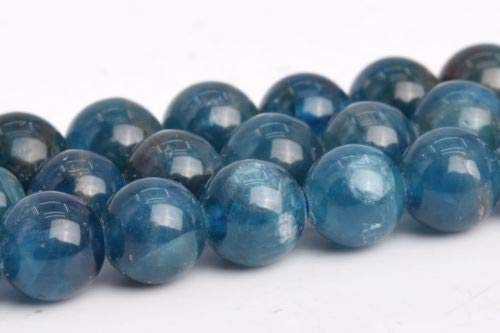 5-6mm Genuine Natural Blue Apatite Grade Around Gemstone Loose Beads 15'' Crafting Key Chain Bracelet Necklace Jewelry Accessories Pendants ()