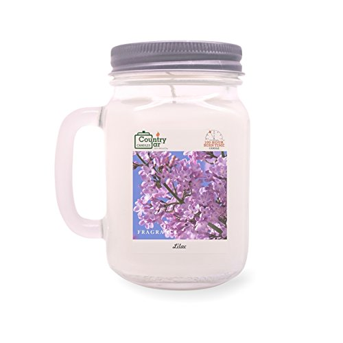 Country Jar Lilac Mason Jar Candle (16 oz.) 100% Natural Soy (3 OR More Sale!)