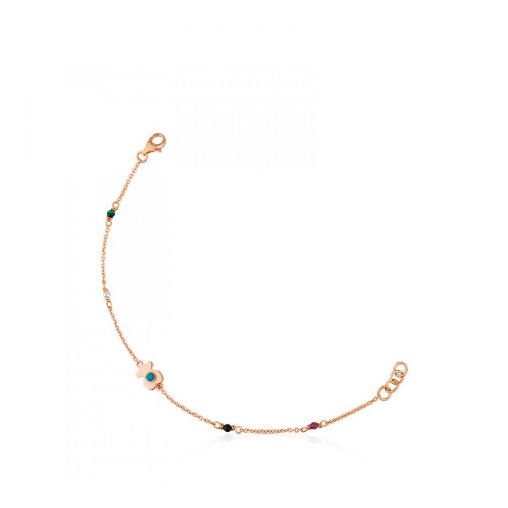 Tous Rose Vermeil Silver Super Power Bracelet with Gemstones