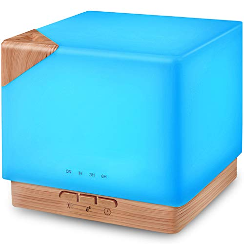 Square Aromatherapy Essential Oil Diffuser Humidifier, 700ml