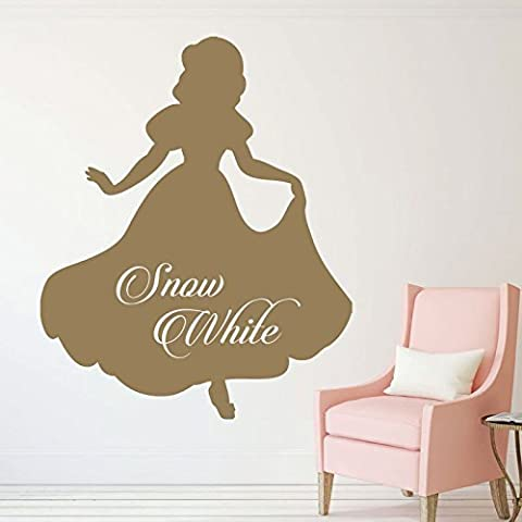 Disney Snow White Vinyl Wall Stickers - Personalized, Little Girls Room, Disney Princess Party, Baby Girl Nursery, Princess Birthday Party, Playroom Decor, Furniture - Bashful Heart