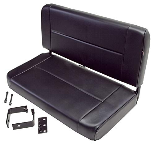 (Rugged Ridge 13461.01 Standard Black Rear Seat)