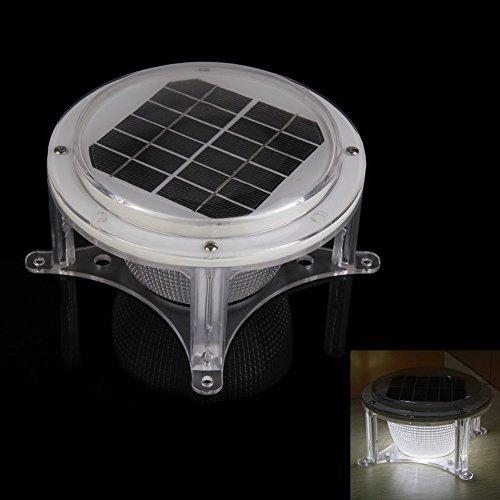 Whitelotous LED Solar Piling Lights Road Courtyard Garden Auto Lighting