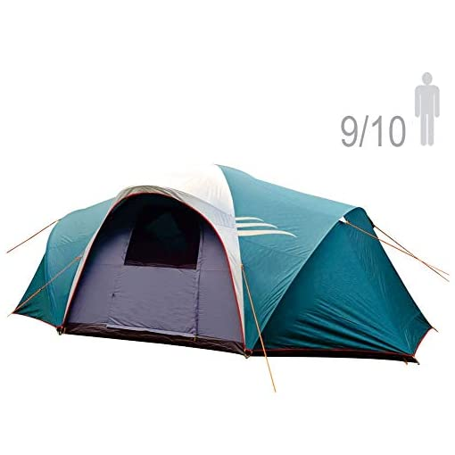 NTK-LARAMI-GT-Tent-up-to-10-Persons-10FT-by-18FT-by-69FT-Height-3-Season-Camping-100-Waterproof-2500mm-Best-Seller-Deluxe-Family-Extra-Large-Easy-Color-Coded-Assembly
