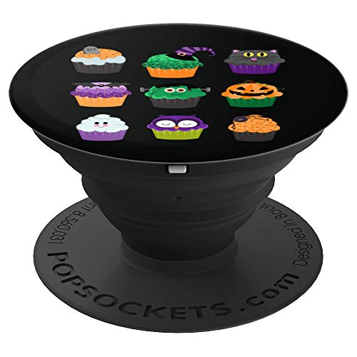 Cute Halloween Pops - Yummy Halloween Cupcakes - PopSockets Grip and Stand for Phones and Tablets ()