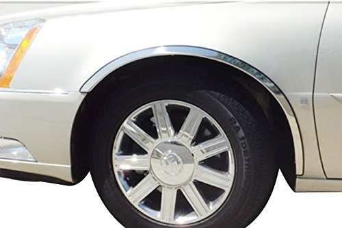 FTCA219 | 2000-2010 Cadillac DeVille/DTS Stainless Steel Fender Trim (3/4 Front Length)