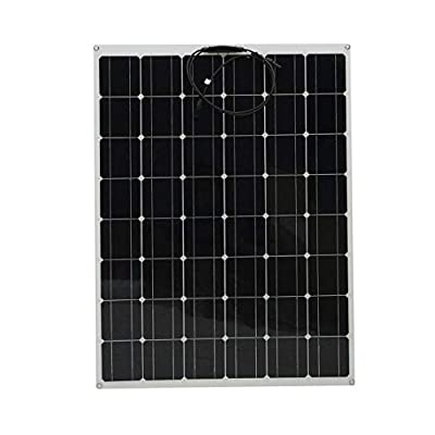 DoMoment 200W Flexible Outdoor Solar Panel Board Solar Power Charging System Module for Off Grid RV Boat Motorhome