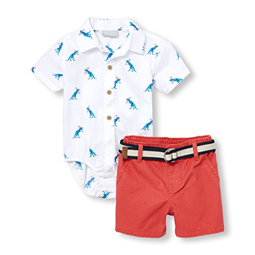 - The Children's Place Baby Boys Short Sets, White 97305, 3-6MONTHS