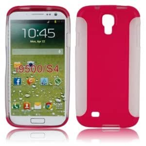 Two Pieces Set TPU + PC Protective Case for Samsung i9500 Rose Red