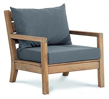 Lounge sessel garten holz  Amazon.de: BEST Lounge-Sessel Teak Moretti, grau