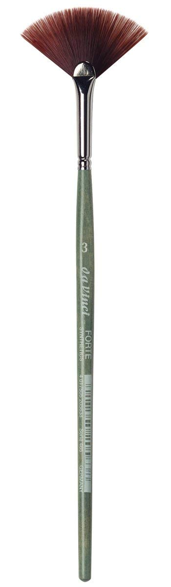 da Vinci Modeling Series 465 Forte Gaming and Craft Brush, Filbert Extra-Strong Synthetic with Blue-Green Handle, Size 3