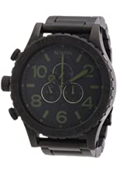 Nixon 51-30 Chrono Black / Surplus Ion-plated Mens Watch A0831042