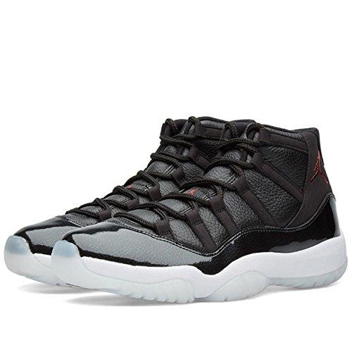 Air Jordan 11 Retro 72-10 378.037-002 Nero - Palestra Rosso - Bianco - Mens Antracite Numero Di Scarpe Da Basket