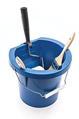 United Solutions PN0002 Yellow One Gallon Plastic Paint Pail - 1 Gallon Paint Bucket in Blue