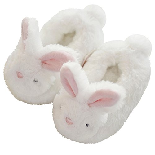 HALLUCI Kid's Cozy Fleece Memory Foam House Trick or Treat Halloween Slippers (9 M US Toddler, The Happy -