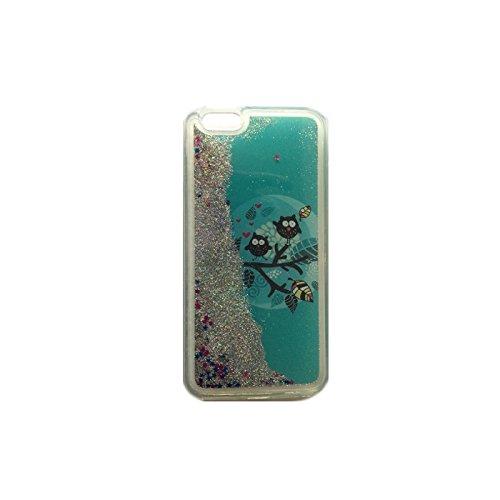 FUN CASE EULE 1 für Apple Iphone 5 / 5G / 5S Handy Cover Hülle Case Glitzer Sterne Flüssig Sternenstaub Hard Case