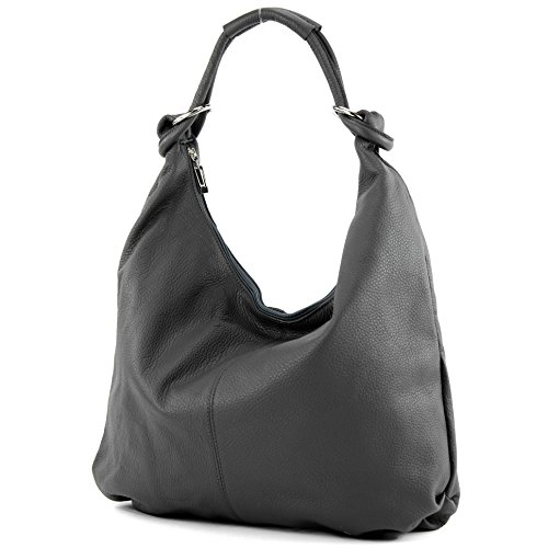 Italian bag women's bag handbag hobo bag leather bag 337 Anthracite Gray