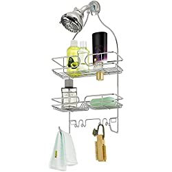 Finnhomy Bathroom Shower Caddy for Shampoo Conditioner Soap Chrome