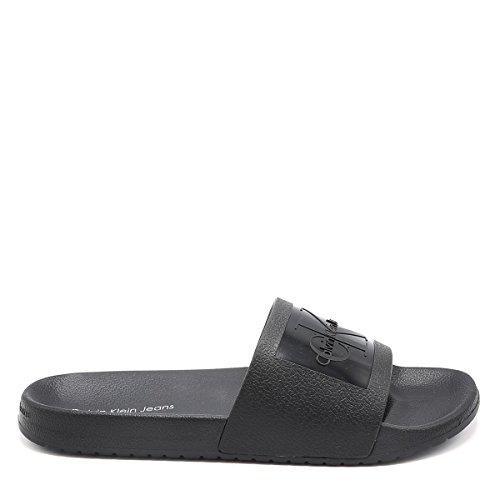 Calvin Klein Jeans Men's Vincenzo Jelly Open Toe Sandals Black g6PLZCr7ft