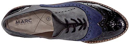 Shoes Mujer 528 Katy Marc Derby combi de Black Zapatos para Mehrfarbig Cordones 1dCqg6Sw