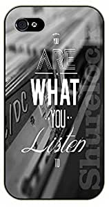 iPhone 6+ Plus Music. You are what you listen to - black plastic case / Life Quotes