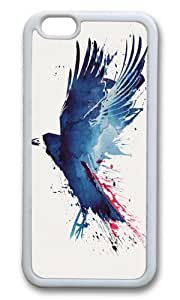 Apple Iphone 6 Case,WENJORS Awesome Bloody Crow Soft Case Protective Shell Cell Phone Cover For Apple Iphone 6 (4.7 Inch) - TPU White